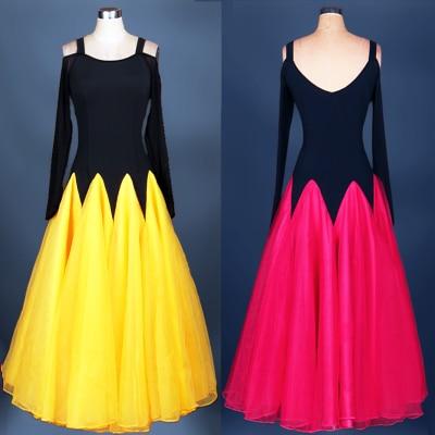customize custom high quality adult Ballroom Fox trot Quick step tango Modern galop tango Waltz competition Dance Dress