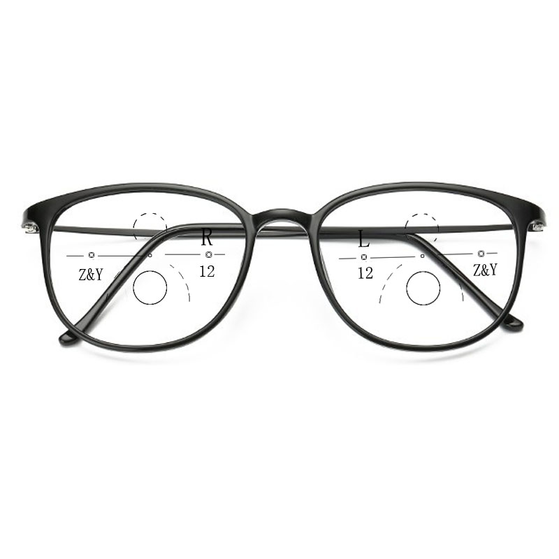 Women Style Progressive Reading Glasses New Design Fashion Full Rim Round Presbyopia Eyewear for Women <font><b>culos</b></font> de leitura progres image