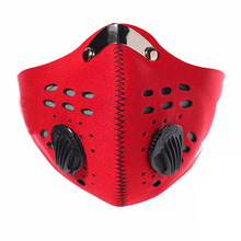 Mask Cycling Face Masks With Air Filter Half Carbon Anti-dust Bicycle Bike Outdoor Sprots Riding Hiking Breathable