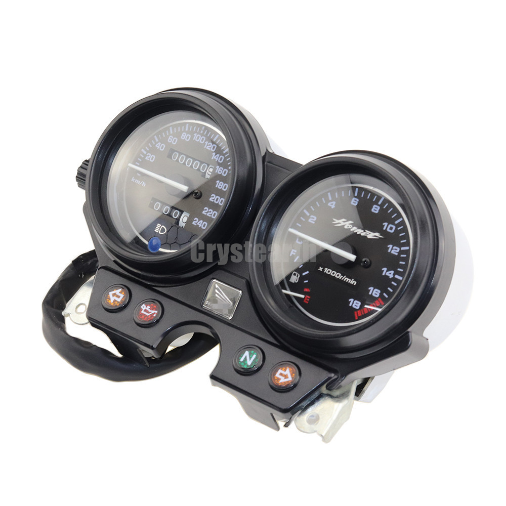 Motorcycle Gauges Cluster Speedometer Tachometer Instrument 240km/h For Honda Hornet 600 2000 2001 2002 2003 2004 2005 2006 motorcycle speedometer gauge cover tachometer for honda goldwing gl1800 2001 2002 2003 2004 2005 speedometer tachometer cover
