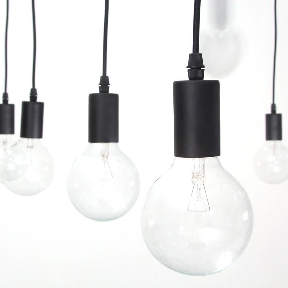 Mordern Nordic Retro Edison Lampa İşıq Çilçıraq Vintage Loft - Daxili işıqlandırma - Fotoqrafiya 5