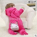 2016 New Arrive Autumn Winter Thicken Fleece Baby Rompers Newborn Baby Girl Clothing Infant Jumpsuits