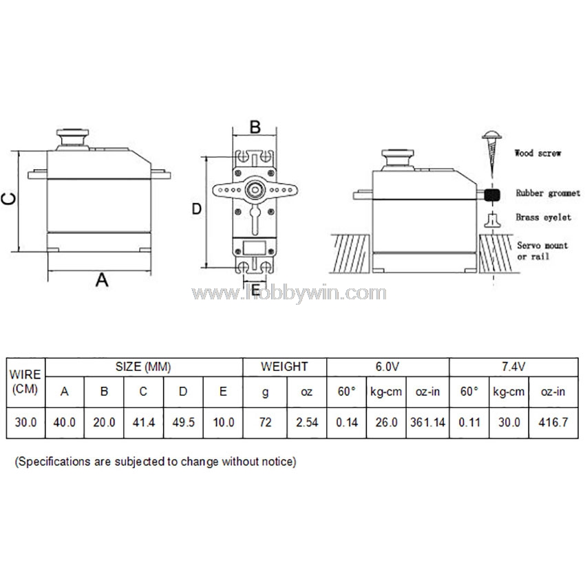 CYS BLS9130 brushless motor 30kg metal gear digital servo JR plug with 30cm wire RC model accessories - 2