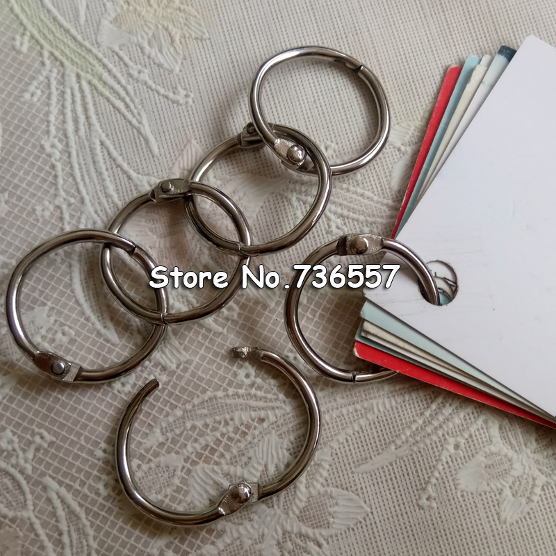 100PCS 25mm Diameter Metal Loose Leaf Ring Binder Binding Ring Clip Album Scrapbook Craft Photo Split Rings Scrapbooking Tool