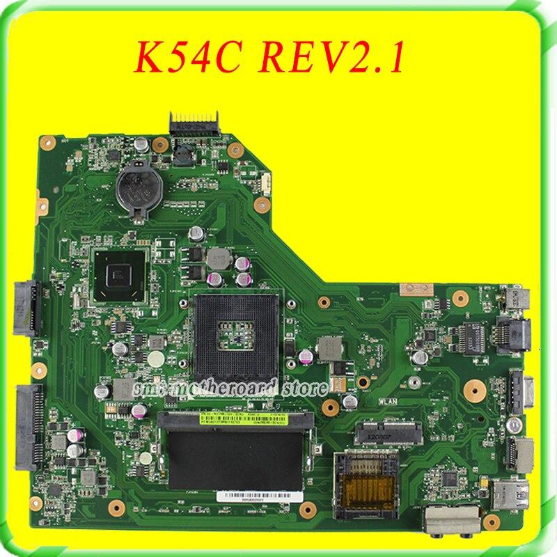 For ASUS Motherboard A54C X54C K54C REV:2.1 Mainboard 4G HM65 PGA989 USB3.0 DDR3 VRAN 60-N9TMB1000 with ram 100% Tested n56vb motherboard n56vm rev2 3 mainboard gt740 4g ddr3 pga 989 fit n56vm n56vj n56vz 100% tested