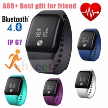 Latest Smart Bracelet Fashion Sport Smartband Bluetooth 4.0 waterproof Heart Rate Monitor Actively Fitness Tracker Sleep Monitor
