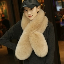 MIARA.L high quality faux fur bib thick warm scarf faked fox collar shawl ladies long paragraph wild wholesale