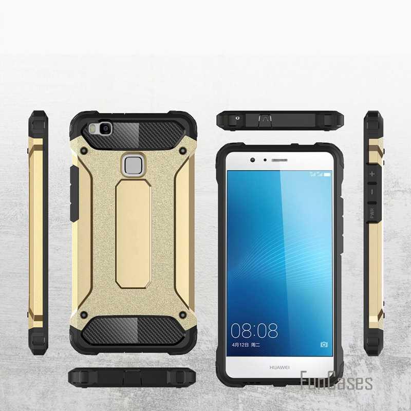 Per Huawei P9 Lite Anti Bussare Armatura Custodia in Plastica + Tpu Caso Ibrido per Huawei Ascend P9 Lite Sottile Duro Duro Del Telefono cvoer Fundas