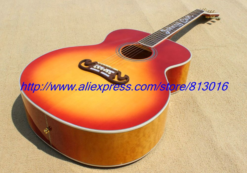 Hot Customised Electric Guitaracoustic Guitar Model With Quilt Flame Body Side And Back