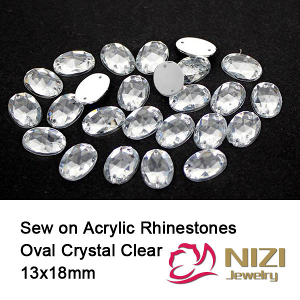 13X18mm Crystal Clear Oval Sewing Rhinestones Flatback Taiwan Sew On Beads For Wedding Dresses Decorations patriot gp 1510