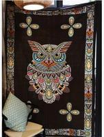 Vintage owl pattern thread blanket tapestry sofa mat towel blanket