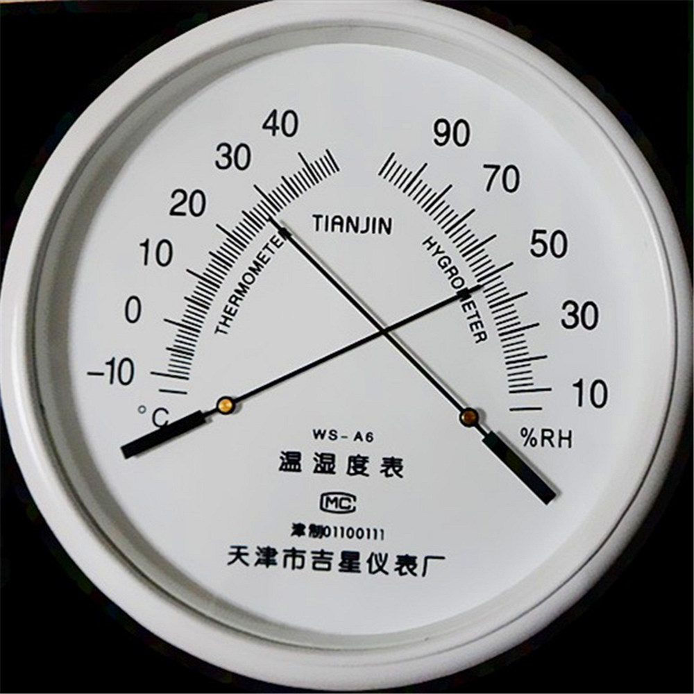 1 Pc Pointer Thermometer Hygrometer WS-A6 Industrial Home Pharmacies High-precision Wall Hanging Diameter: 255MM Free Shipping