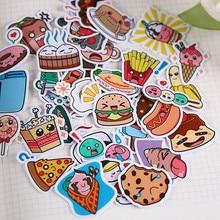 40 pçs criativo kawaii auto-feito aquecimento comida adesivo/bonito/decorativo/diy artesanato álbum de fotos