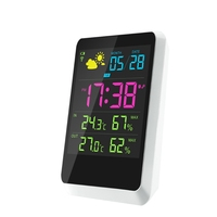 Smart Weather Station Wireless Digital Household LCD Thermometer Hygrometer Snooze Alarm Clock Remote Sensor Weather Forecast