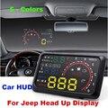 """Auto 5.5 """"parabrisas hud head up display proyector de datos de diagnóstico obd ii coche libertad patriot brújula grand cherokee wrangler"""