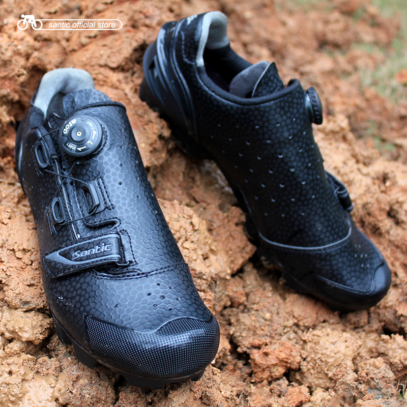 Santic Для мужчин Велоспорт MTB Обувь Велоспорт MTB обуви для спортивных Racing Team Вел ...