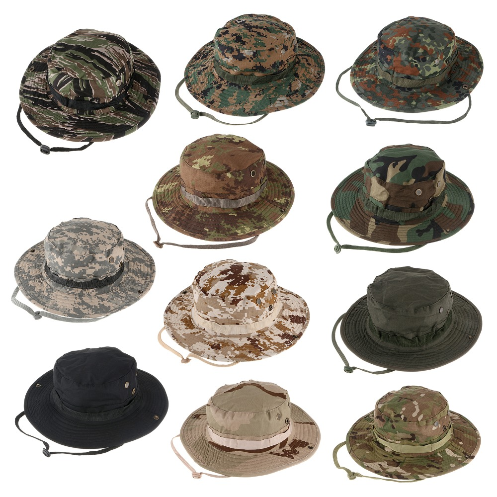 New Men Hunting Hat Military Cap Outdoor Wide Bucket Hats Unisex Outdoor  Hiking cap-in Hiking Caps from Sports   Entertainment on Aliexpress.com  421cad4bb72