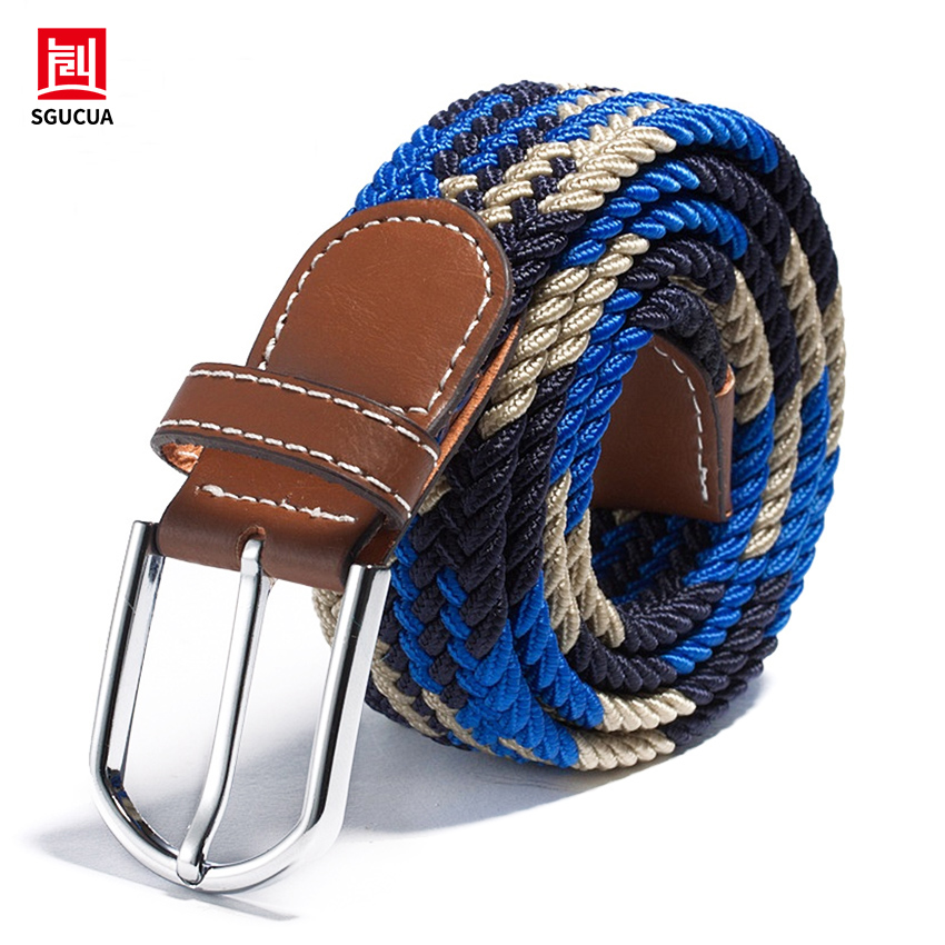 The new stretch woven elastic belt Factory direct cash belt Men Women belt canvas 20 colors belts