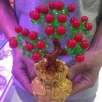 Chalcedony Crystal Quartz Gemstone Bonsai Lucky Tree