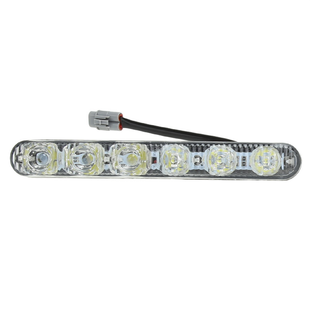 Car Headlight High Power High Low Beam Aluminum Warning Driving Fog Lamp Auto DRL Daytime Running