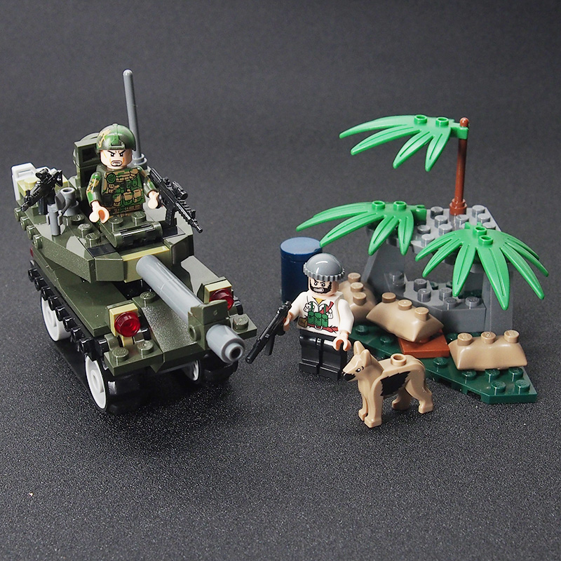 Mini Counter Strike Military Weapon Tank Gun soldier Set Army Building brick Kids Toys Sets toys for children
