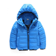 2016 New Solid Pinkycolor Boy Girl Winter Clothes Boys Girls Outerwear Down Jackets Cotton-padded Jacket Children's Clothing