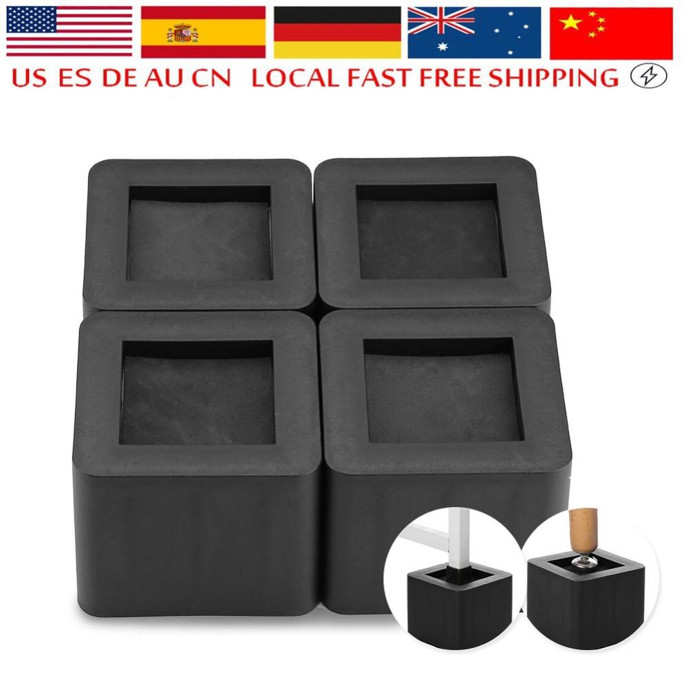 4Pcs/Set Furniture Leg Risers PP Plastic Non-Slip Riser For Table Chair Desk Bed Sofa New Design Furniture Riser