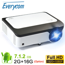 Everycom Full HD 1080 P Портативный светодиодный проектор 5000 люмен ЖК дисплей видео Projecteur Smart Android Wi Fi Projetor для Iphone смартфон