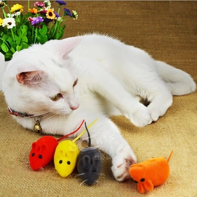 5pcs/Lot Pet Toys Cat Dog Chew Toys Sound Mouse Toy Colors Black/ Red/Pink/Blue/Grey/Yellow