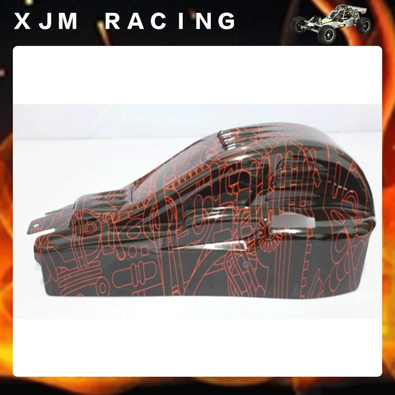 1/5 rc car racing parts Tango body shell for 1/5 scale hpi rovan km baja 5b/5t/5sc, red and clear choose 1 5 rc car racing parts four wheel line cable brake system kit fit hpi rovan km baja 5b 5t 5sc