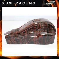 1/5 rc car racing parts Tango body shell for 1/5 scale hpi rovan km baja 5b/5t/5sc, red and clear choose