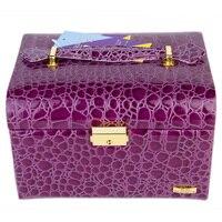 Snake Faux Leather Jewelry Box Beads Ring Bracelet Storage Box Jewelry Organizer Gift Box Travel Case