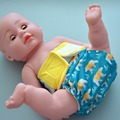 JinoBaby Pañales Impermeables Pantalones De Bolsillo De Bambú Pañal de Tela Un Tamaño Recién Nacidos hasta 33 Libras