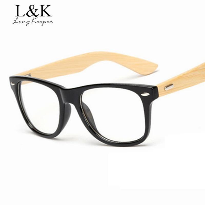 Long Keeper Holz Bambus Brille Rahmen Männer Frauen Myopie - Bekleidungszubehör