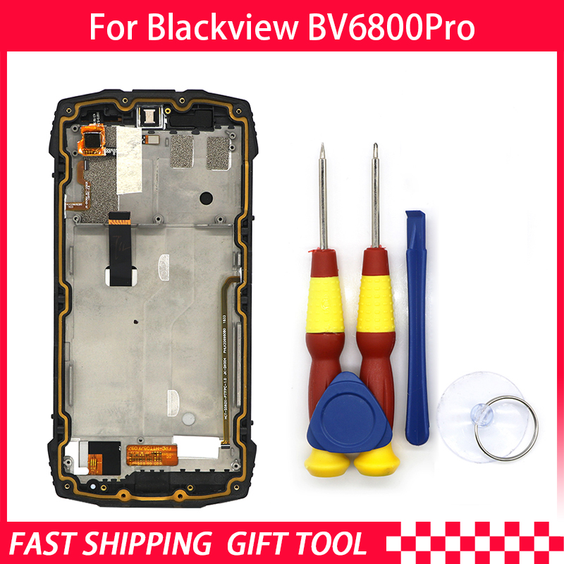 New Touch Screen LCD Display For Blackview BV6800 pro Digitizer Assembly With Frame Replacement Parts+Disassemble ToolNew Touch Screen LCD Display For Blackview BV6800 pro Digitizer Assembly With Frame Replacement Parts+Disassemble Tool