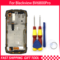 New Touch Screen LCD Display For Blackview BV6800 pro Digitizer Assembly With Frame Replacement Parts+Disassemble Tool