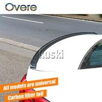 Overe 1Set Car Carbon Fiber Rear Spoiler Wing stickers For Peugeot 508 308 206 307 207 407 2008 Citroen C4 C5 Opel Astra j h