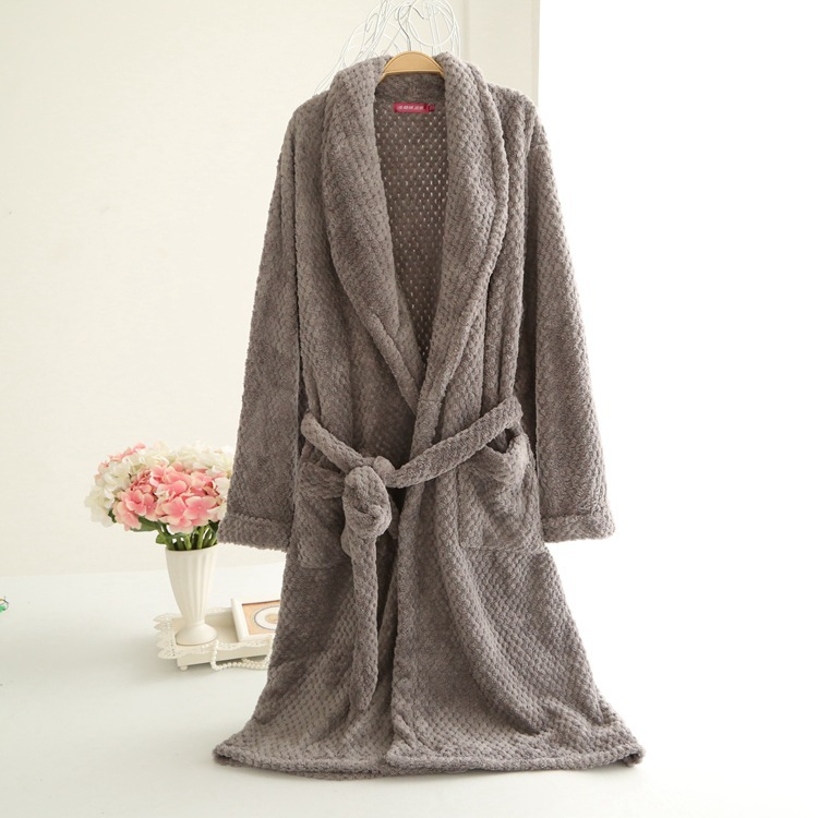 2015 Australia winter long dressing gown bathrobe winter warm ...