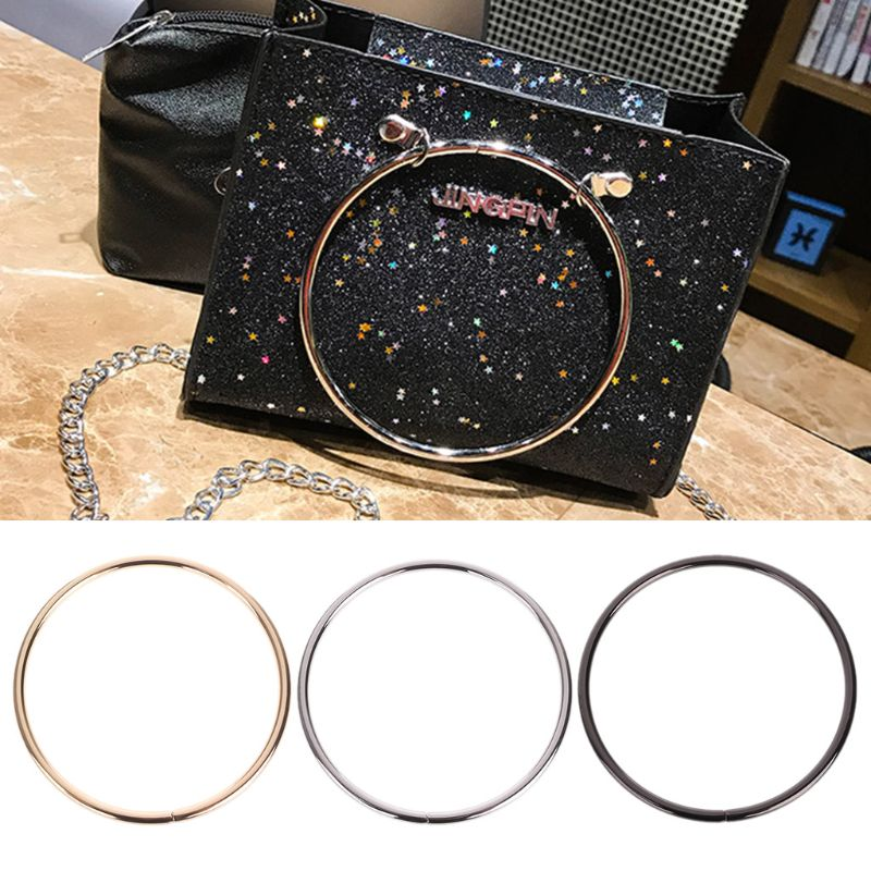 1PC Round Metal Replacement Top Handbags Handle Crossbody Bag Part Accessories  1PC Round Metal Replacement Top Handbags Handle Crossbody Bag Part Accessories