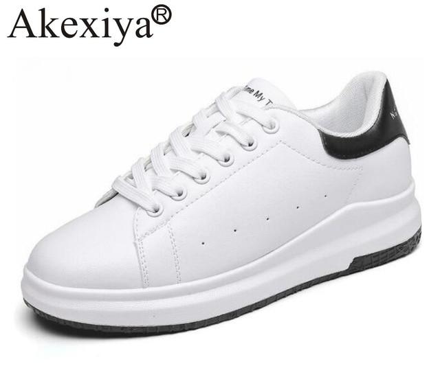 Akexiya Brand Women Sports Running Shoes White Color Girls Height