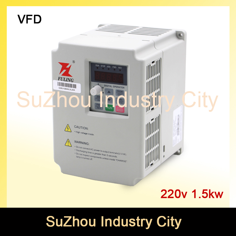 New!CNC Spindle motor speed control 220V 1.5kw VFD Variable Frequency Drive  Inverter  1 or 3HP Input 3HP Output for cnc driverl replacement spindle drive motor for sony ps2 70000 console