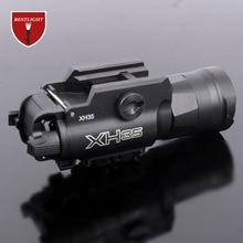 XH35 оружейный светильник ультра-Высокий Двойной выход белый светодиодный тактический светильник регулировка яркости и Стробоскоп Белый светильник