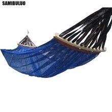 SAMIBULUO Camping Ländlichen Stil Für Erwachsene Tragbare Einzelne Person Outdoor Reise Möbel Eis Seide Outdoor Hängematte