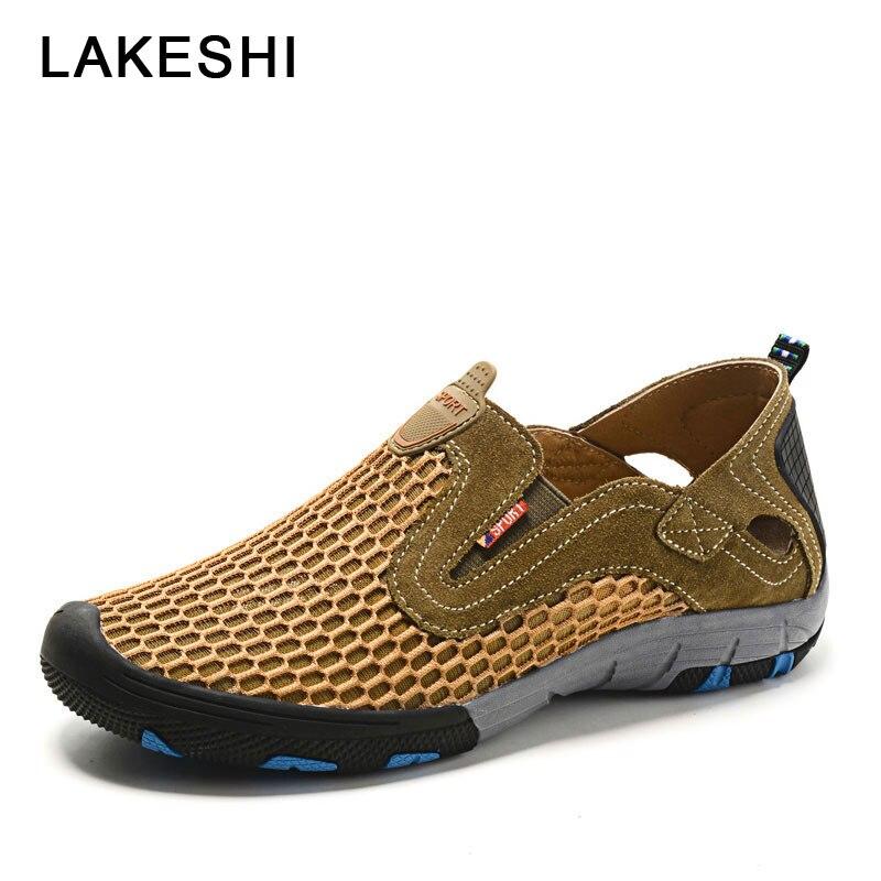 90ea3cfd3 2019 мужская обувь, летняя кожаная повседневная обувь, мужские сандалии,  качественные дышащие кроссовки на
