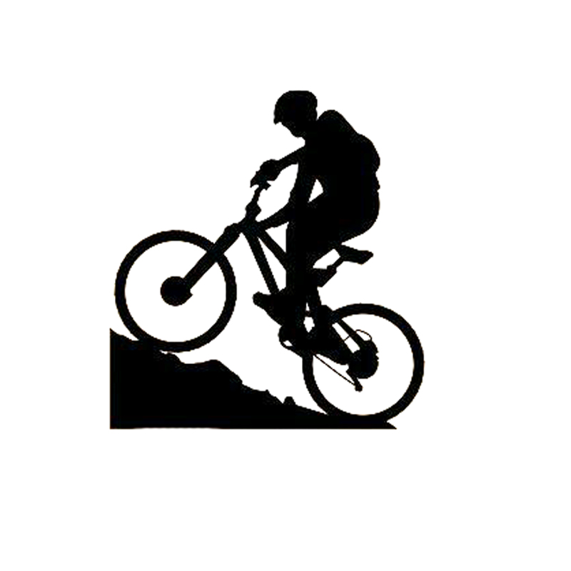 10.9CM*11.8CM Mountain Biking Extreme Sports Bicycle Boy Car Sticker Vinyl Decal S9-0216
