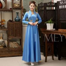 Traditional China New Woman Dresses Spring and Autumn Vintage Chinese qipao dresses long style improved cheongsam