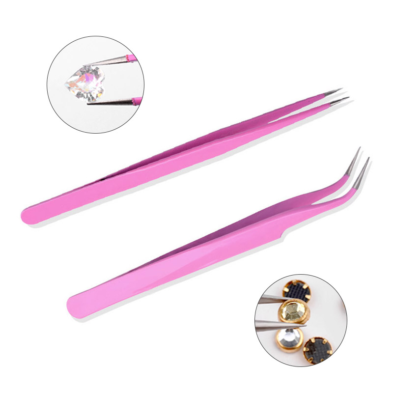 2017 New Pink Anti-static Curved/Straight Nail Art