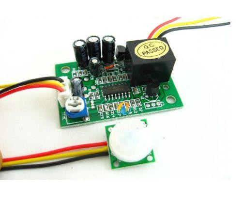 1pcs 12V PIR IR Pyroelectric Infrared Module Adjust Relay Output