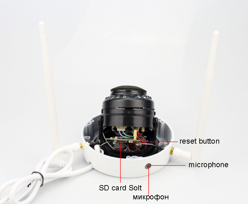 5MP 3MP 2MP 15pcs Infrared Leds H.265+ ICsee 25fps 128GB ONVIF Audio two antenna indoor Explosion-proof WIFI IP Dome Camera picture 05