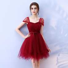 Sweet Memory Red Bridesmaid Dresses criss cross Short Wedding Party Prom Dress SW0030 Good Quality Promotion